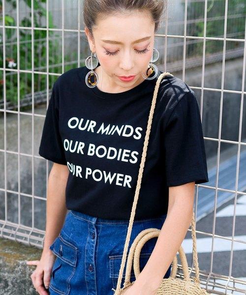 ロゴデザインコットンTシャツ