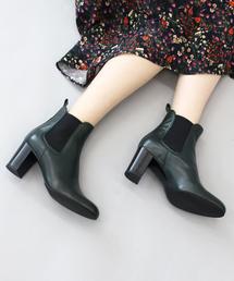FABIO RUSCONI(ファビオルスコーニ)のFABIO RUSCONI(ファビオルスコーニ) /side gore plane short boots(サイドゴアショートブーツ)(ブーツ)
