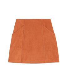 SNIDEL(スナイデル)の台形スウェードミニスカート(スカート)