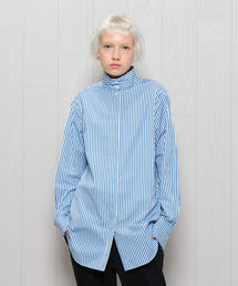 <H>BROAD STAND SHIRT/シャツ