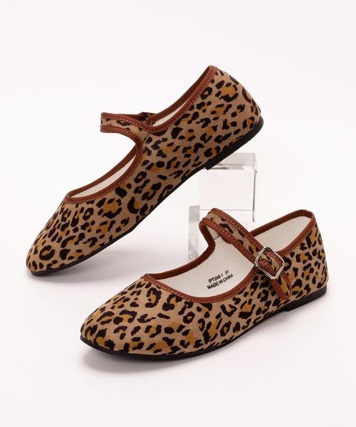SVEC(シュベック)の「カンフーシューズ /  SVEC シュベック kung fu Shoes(バレエシューズ)」|レオパード
