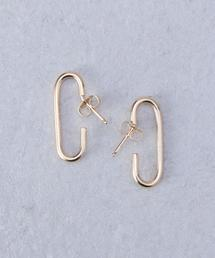<ANNIKA INEZ>E869 MONO �V GOLD PLATED EARRINGS/ピアス.