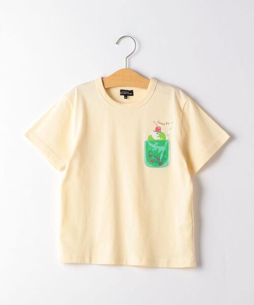 〔吸水速乾〕クリームソーダポケット Tシャツ