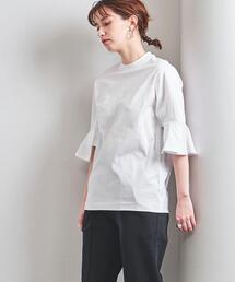<TOGA PULLA(トーガ プルラ)>フレアスリーブ Tシャツ