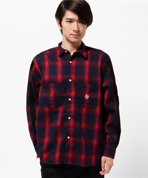 ALDIES(アールディーズ)の「Meta Wide Shirt ネル ワイドシャツ(シャツ/ブラウス)」|レッド