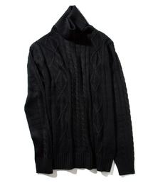 INASTUDIOS(イーナストゥディオス)の「INASTUDIOS SELECT」アラン編みタートルネックセーター(ニット/セーター)