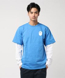 A BATHING APE(アベイシングエイプ)のPASTEL COLOR LAYERED  L/S TEE M(Tシャツ/カットソー)