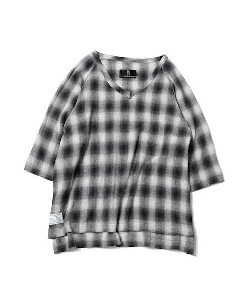 VIRGOwearworks(ヴァルゴウェアワークス)の「PULLOVER CHECK SHIRTS(シャツ/ブラウス)」|ブラック