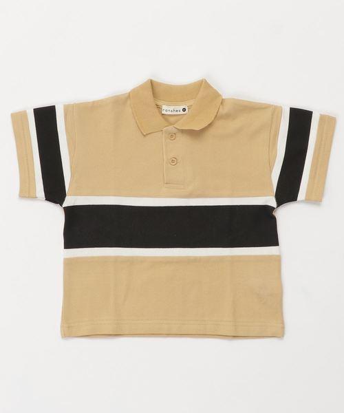 切り替えデザインポロシャツ