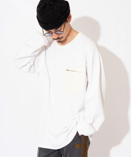 WACHO ナイロンポケット ビッグシルエット ロンT 長袖Tシャツ ポケT