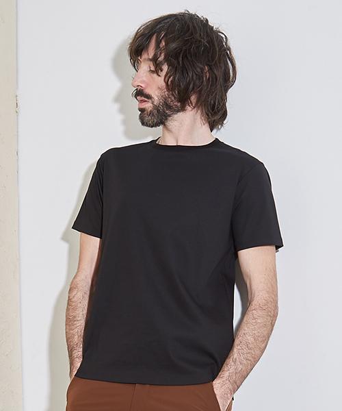 UNITED TOKYO(ユナイテッドトウキョウ)の「テクノラマスムースクルーネックカットソー(Tシャツ/カットソー)」|ブラック