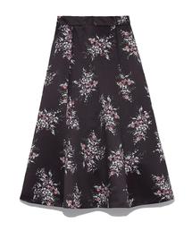 SNIDEL(スナイデル)のミモレフレアプリントスカート(スカート)