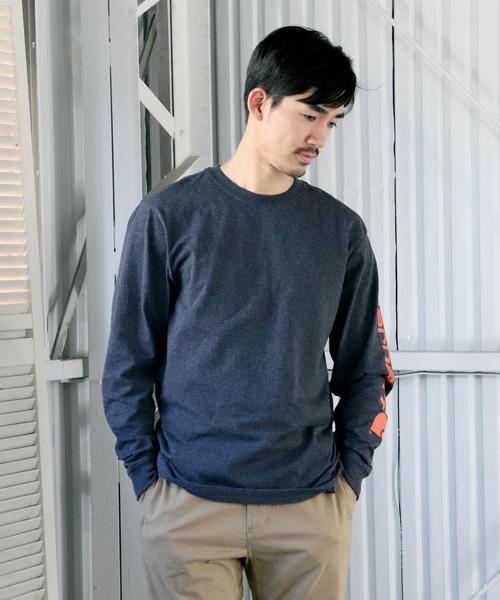 【 carhartt / カーハート 】K231 Signature Sleeve Logo Long-Sleeve T-Shirts