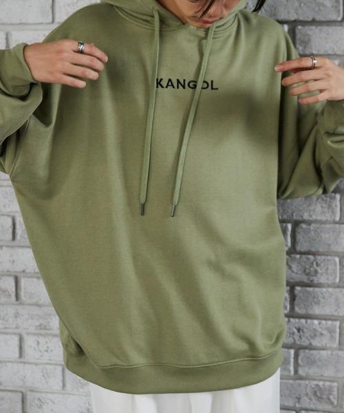 ▽WEB限定 KANGOL/カンゴール 別注 スーパービッグシルエット プルオーバーパーカー
