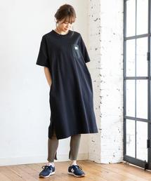 【WEB限定カラー⇒ネイビー】SMITH別注Tシャツワンピース