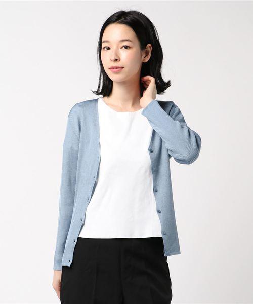 品質は非常に良い アセテートポリエステルVネックカーディガン(ニット/セーター)|ANAYI(アナイ)のファッション通販, アベイルコマドリ(生地毛糸):8a1107cb --- skoda-tmn.ru