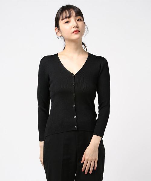 55%以上節約 アセテートポリエステルVネックカーディガン(ニット/セーター)|ANAYI(アナイ)のファッション通販, ササヤマシ:39929c14 --- skoda-tmn.ru