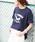 HER CLOSET(ハークローゼット)の「【HERCLOSET】【1mile/ワンマイルウェア】◆WEB限定◆プリントロゴTシャツ/リラックスウェア(Tシャツ/カットソー)」 ブルー系その他