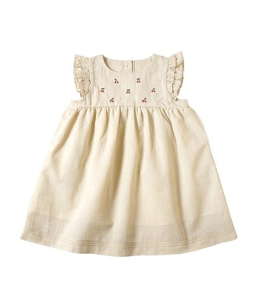 10mois チェリー刺繍サマードレス
