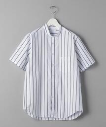 BY 100/2 ブロード ストライプ バンドカラーシャツ
