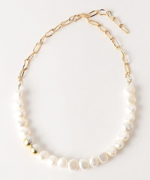 <Preek>BAROQUE PEARL CHAIN NECKLACE 42/ネックレス