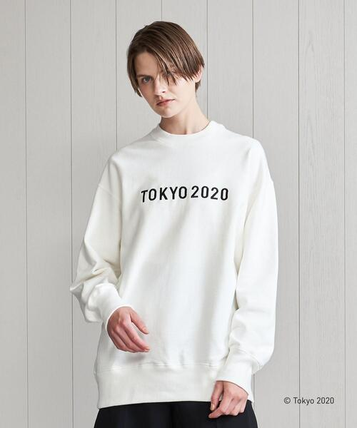 <TOKYO 2020 OFFICIAL LICENSED PRODUCT>BIG LOGO EMBROIDERY SWEATSHIRT/スウェット.