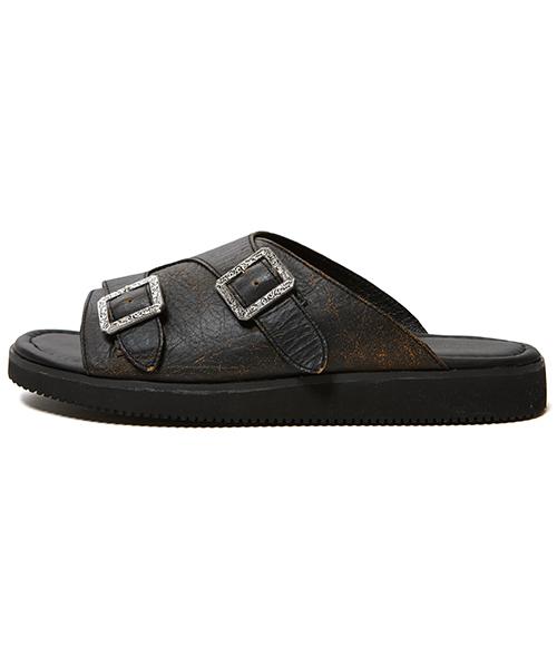 CHRISTIAN DADA(クリスチャンダダ)の「Leather Sandals (サンダル)」|ブラウン