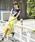 A.I.C(エーアイシー)の「カットレース fab.×スカラップ デザイン・スカート(スカート)」|イエロー