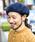 無(ム)の「バスクベレー(ハンチング/ベレー帽)」|ネイビー