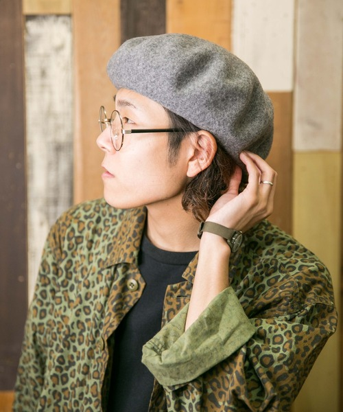 無(ム)の「バスクベレー(ハンチング/ベレー帽)」|グレー