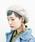 無(ム)の「バスクベレー(ハンチング/ベレー帽)」|ダークベージュ