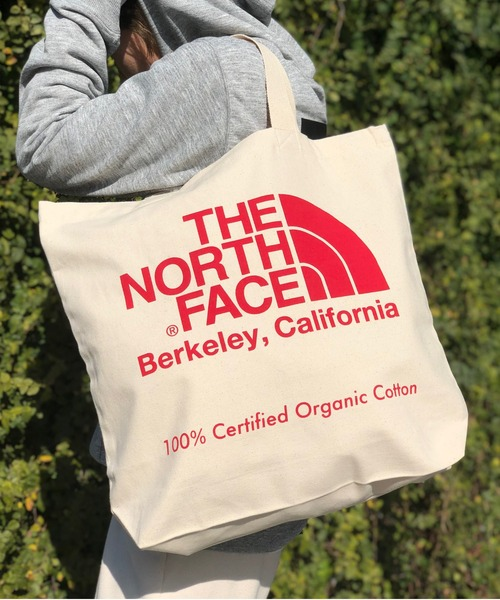 THE NORTH FACE(ザノースフェイス)の「【THE NORTH FACE】TNF ORGANIC COTTON TOTE(トートバッグ)」|レッド