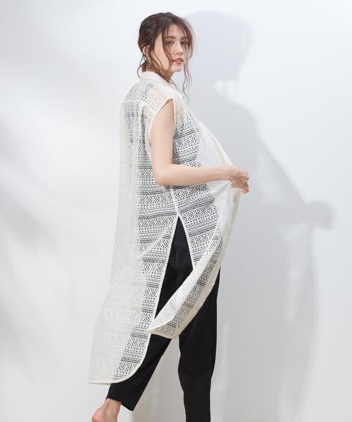 【安心発送】 【セール】ボーダーレースロングシャツ(シャツ/ブラウス)|qualite(カリテ)のファッション通販, すみれいろネイル:2187bfc9 --- gnadenfels.de