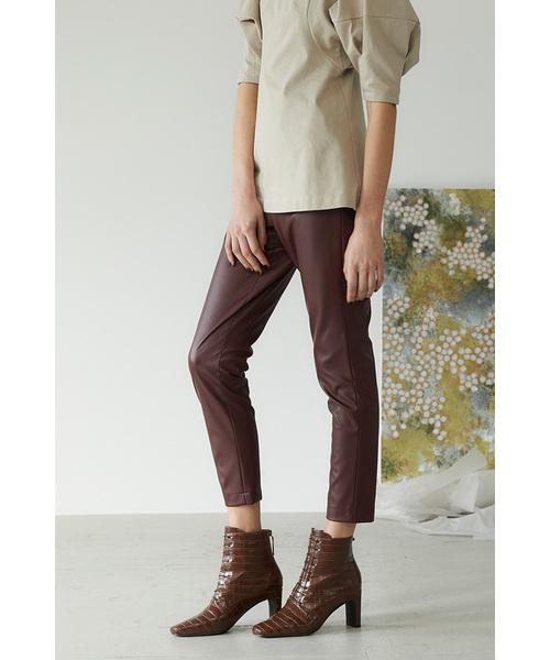 50%OFF エコ レザースリムパンツ(パンツ)|RIM.ARK(リムアーク)のファッション通販, らいぶshop:a6be6328 --- skoda-tmn.ru