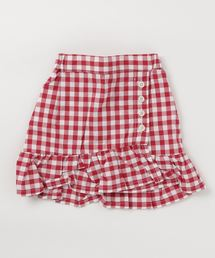 petit main(プティマイン)のギンガム裾フリルスカート(スカート)