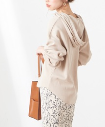 natural couture(ナチュラルクチュール)のヘンリーネック開きワッフルパーカー(パーカー)