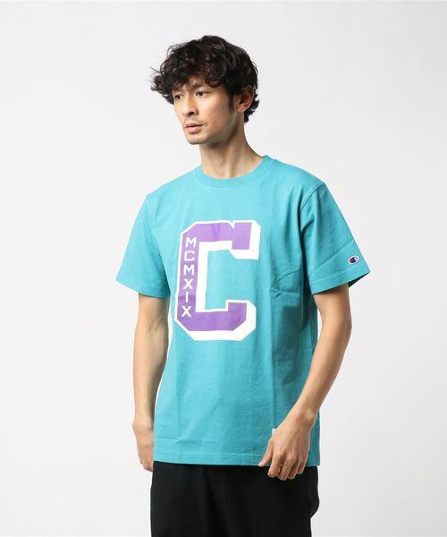 【CHAMPION】ビッグプリントTシャツ