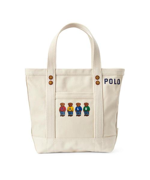 a0c7e1bd50a2b POLO RALPH LAUREN(ポロラルフローレン)の「Polo ベア キャンバス ミニ トートバッグ