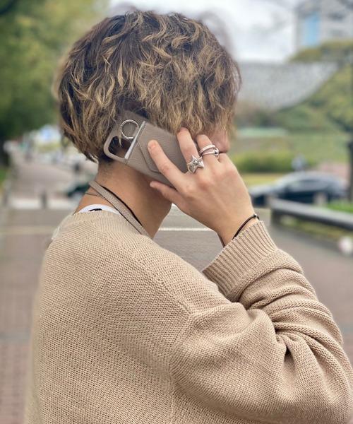 ensemble/アンサンブル/PORTE iPhone12miniショルダー付き