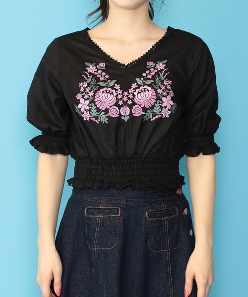 ファッション 【セール】フラワー刺繍シャーリングブラウス(シャツ/ブラウス) DEICY(デイシー)のファッション通販, 看板ならいいネットサイン:eedb642b --- hundeteamschule-shop.de