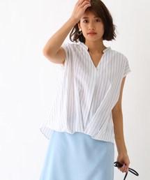 aquagirl(アクアガール)の裾タック・シアーシャツ(シャツ/ブラウス)