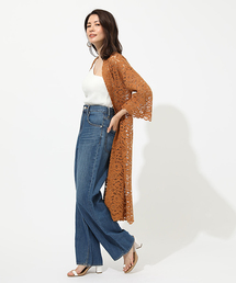AZUL BY MOUSSY(アズールバイマウジー)のSCALLOP LACE GOWN(カーディガン)