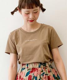 E hyphen world gallery(イーハイフンワールドギャラリー)のクルーミニロゴTシャツ ●(Tシャツ/カットソー)