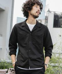 【WEB限定】微起毛オープンカラーシャツ 長袖