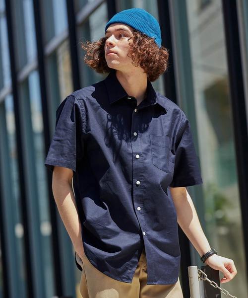 高密度オックスフォードストレッチレギュラーカラーシャツ