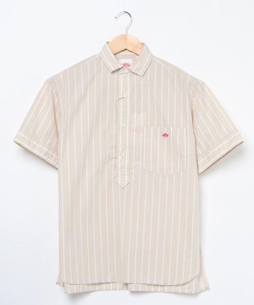 Danton(ダントン)の「[DANTON/ダントン] コットンポプリンシャツ(シャツ/ブラウス)」|ベージュ