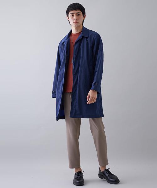 【STUDIOUS】LIMONTAナイロンシャツステンカラー