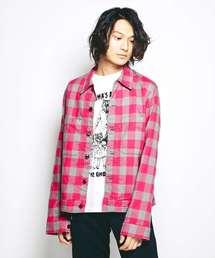 LADYLAND ACADEMY ブロックチェックシャツジャケット