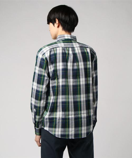 【GRAND GLOBAL×ROBERT KAUFMAN (ロバートカウフマン)】タータンチェックツイルシャツ 日本製 -made in Japan-