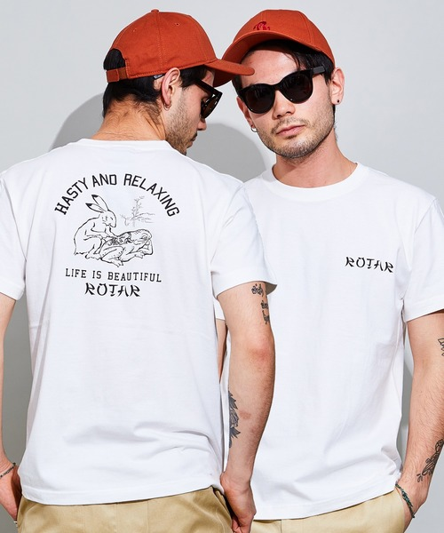 HASTY AND RELAXING Tee  バックプリント Tシャツ